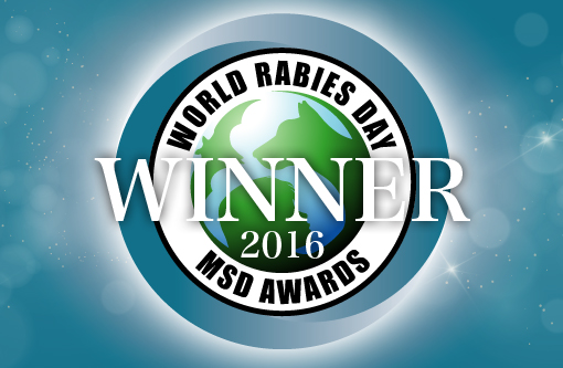 World Rabies Day Award badge